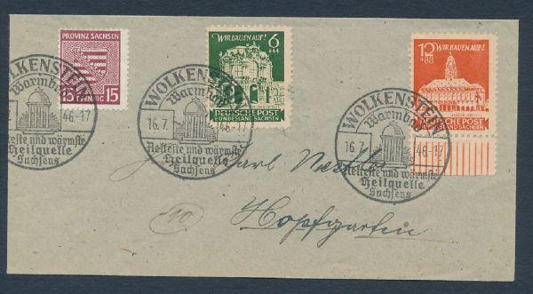 SBZ Mi.Nr.80 X auf Brief Luxus Fotoattest BPP