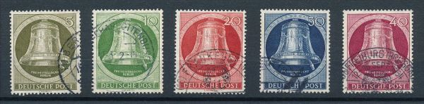 Berlin Mi.Nr.82-86 gestempelt