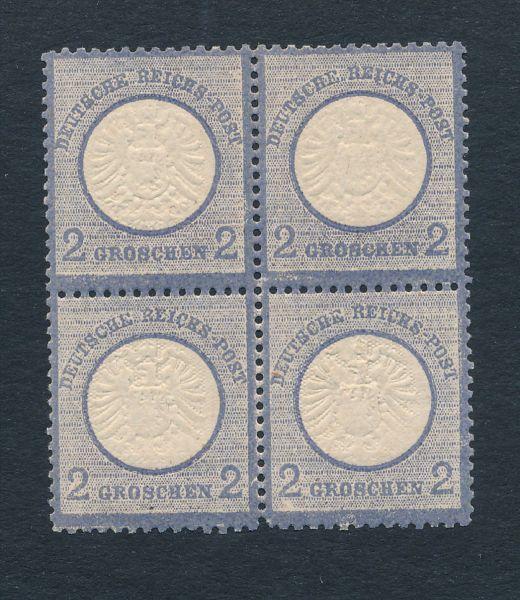 Deutsches Reich Mi.Nr.20 Viererblock ** Fotobefund BPP