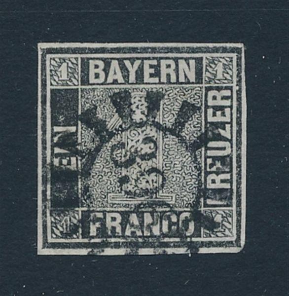 Bayern Mi.Nr.1 I a gestempelt Luxus Fotoattest BPP