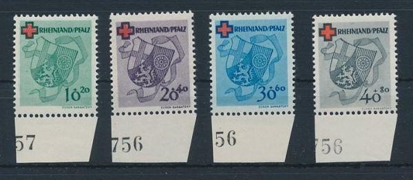 Rheinland Pfalz Mi.Nr.42-45 ** postfrisch vom Rand