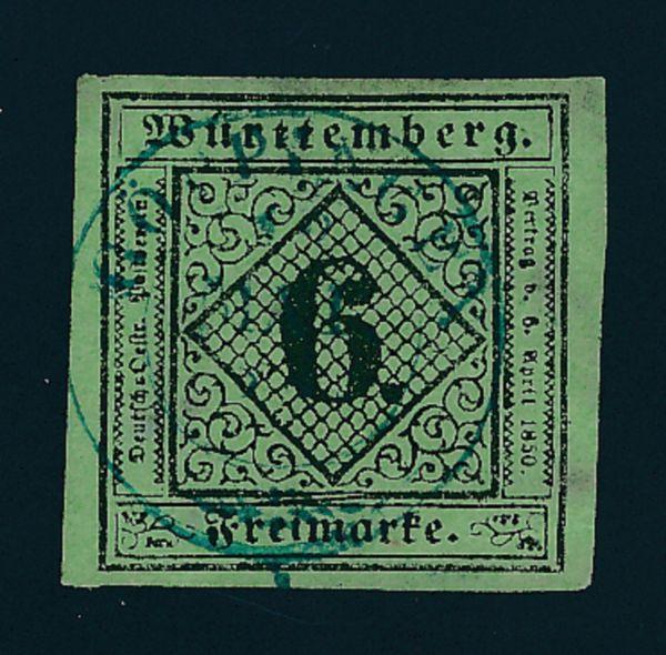 Württemberg Mi.Nr.3y gestempelt