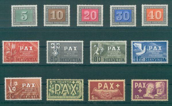 Schweiz Mi.Nr.447-59 Pax ** postfrisch Fotoattest