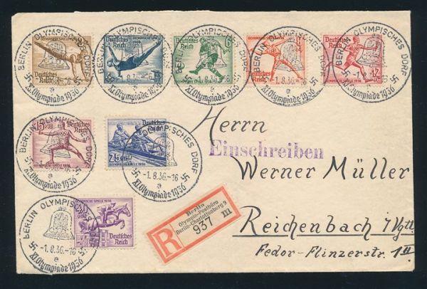 Olympiade 1936 Spezial - Lot R -Zettel Postbüro