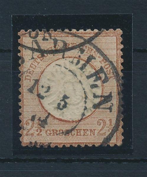 Deutsches Reich Mi.Nr.21 b gestempelt geprüft (800.-)