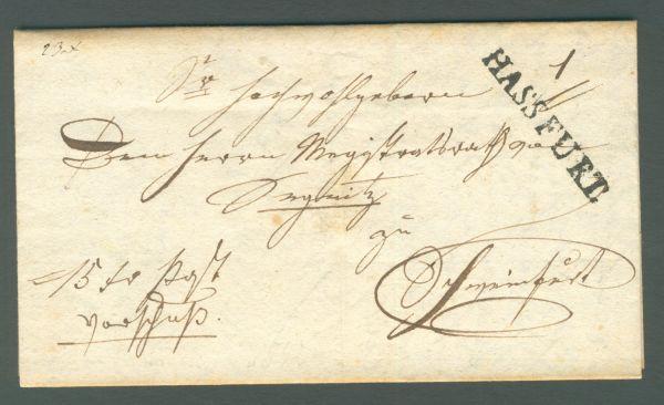 Hassfurt L 1 1842 mit Inhalt Vorphila/Altbeleg