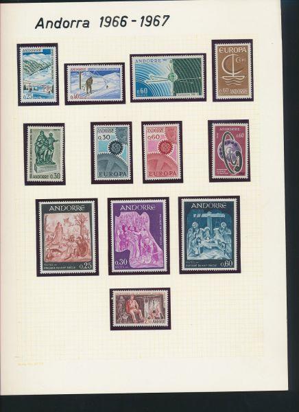 Andorra Franzöisch + Spanisch ** Sammlung ca.1966-1984