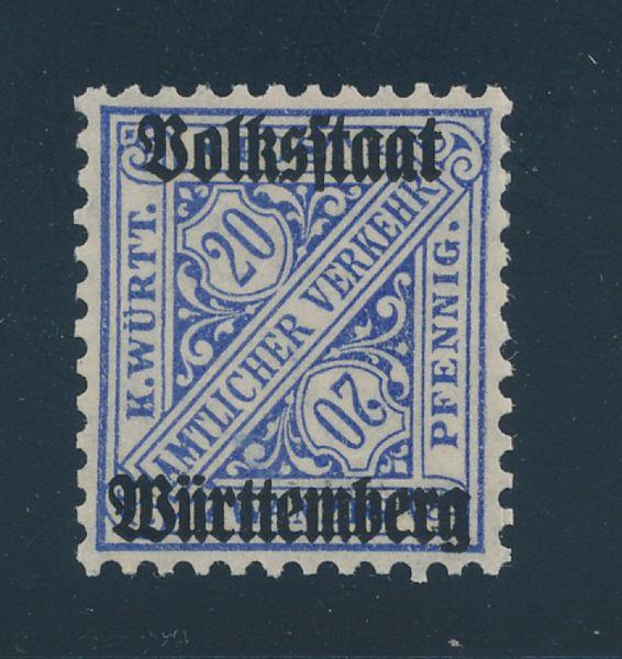 Württemberg Mi.Nr.264 d ** postfr.Luxus Fotobefund BPP