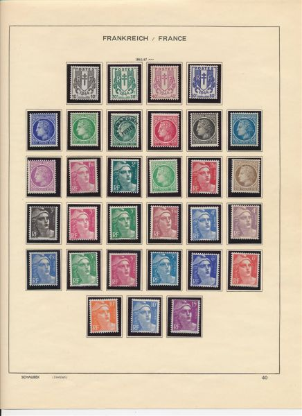 Frankreich 1945-1993 ** postfrische komplette Sammlung
