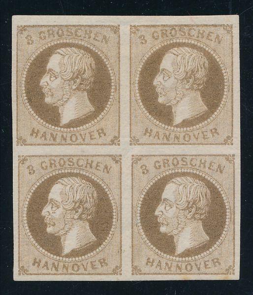 Hannover Mi.Nr.19a Vierer ungebr. Luxus Fotobefund BPP
