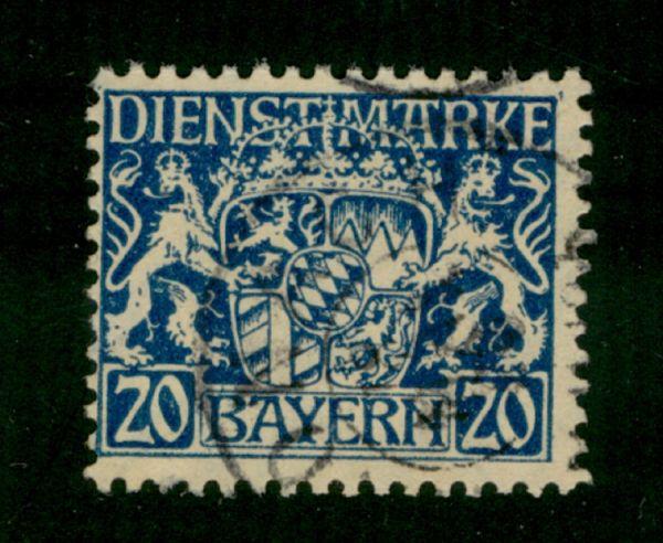 Bayern Dienst Mi.Nr.28 w gestempelt geprüft