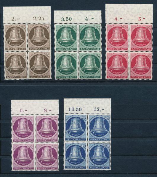 Berlin Mi.Nr.75-79 Oberrand - Viererblock ** postfrisch