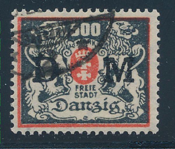 Danzig Dienst Mi.Nr.39 gestempelt Lux Fotoattest BPP