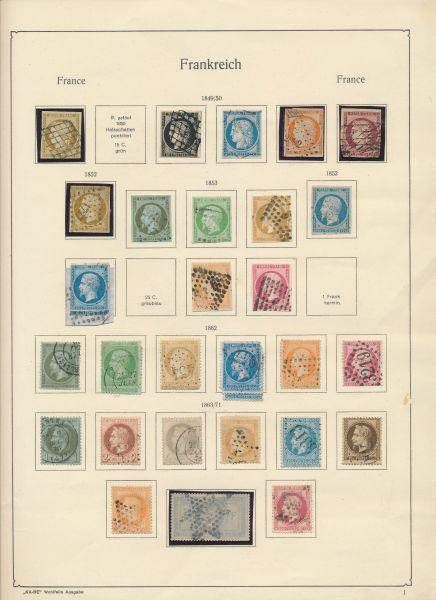 Frankreich 1849-1964 Klassesammlung o,* und **