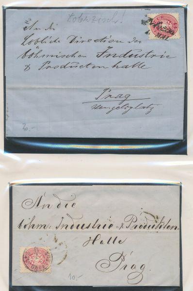 Österreich Klassik Sammlung von über 100 frank.Belegen