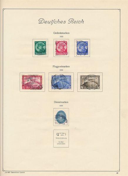 Deutsches Reich 1933-45 gestempelt fast komplett