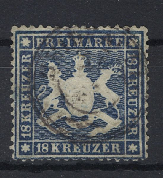 Württemberg Mi.Nr.20 gestempelt Fotobefund BPP(2800.-)
