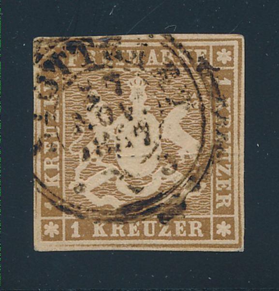 Württemberg Mi.Nr.6 c gestempelt Luxus Fotobefund BPP