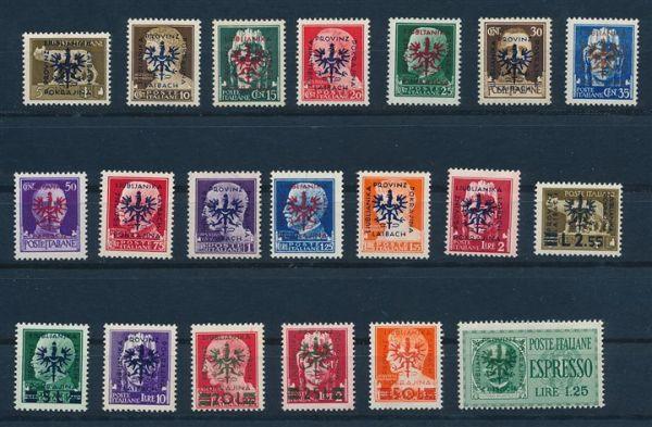 Laibach Mi.Nr.1-20 ** postfr. Luxus Fotobefund Brunel