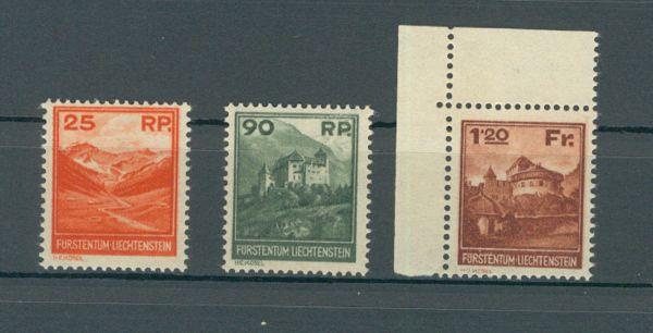 Liechtenstein Mi.Nr.119 - 121 ** Fotoattest BPP