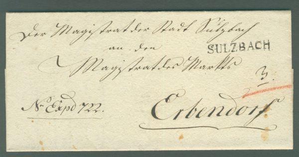 Sulzbach 1831 mit Inhalt Vorphila/Altbeleg