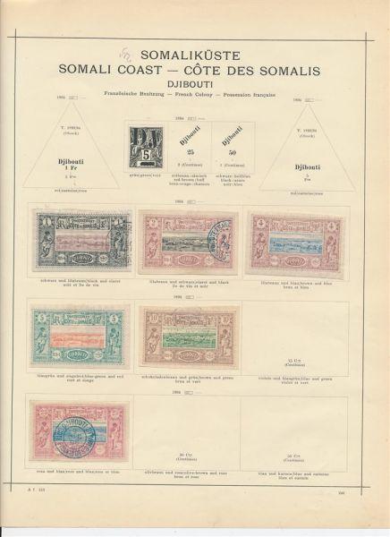 Französische Somaliküste Interessante alte Sammlung