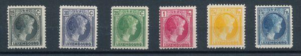Luxemburg Mi.Nr.221-26 ** postfrisch