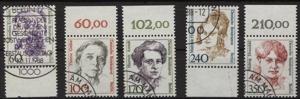 Berlin Mi.Nr. 824-28 gestempelt Randstücke