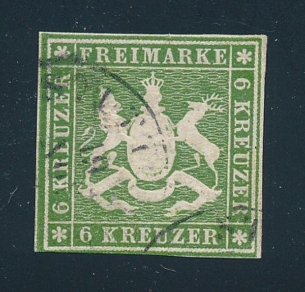 Württemberg Mi.Nr.13 gestempelt geprüft
