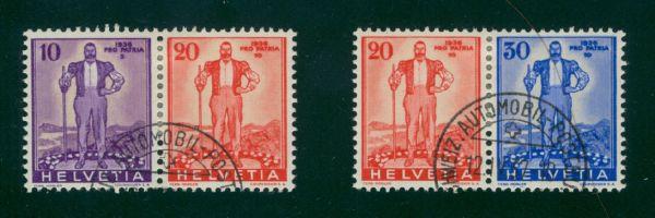 Schweiz Mi.Nr.A294-96 gestempelt Fotobefund