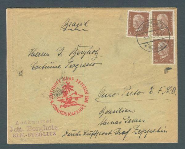 "Zeppelin 4.Südamerikafahrt "" Via Condor-Zeppelin"""