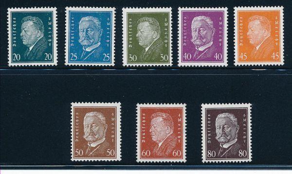 Deutsches Reich Mi.Nr.415-22 ** Luxus Fotoattest BPP