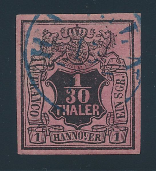 Hannover Mi.Nr.3 bW gestempelt Luxus Fotobefund BPP