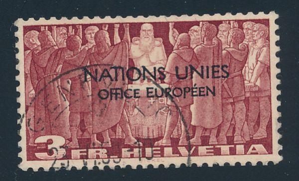 Schweiz ONU Mi.Nr.18 gestempelt Fotoattest