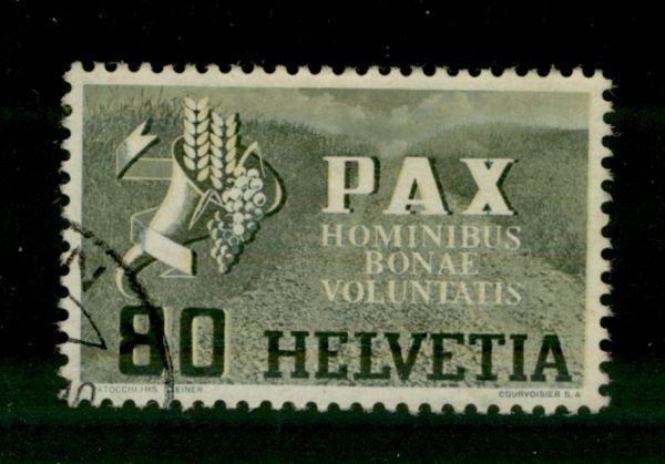 Schweiz Mi.Nr.454 Pax gestempelt
