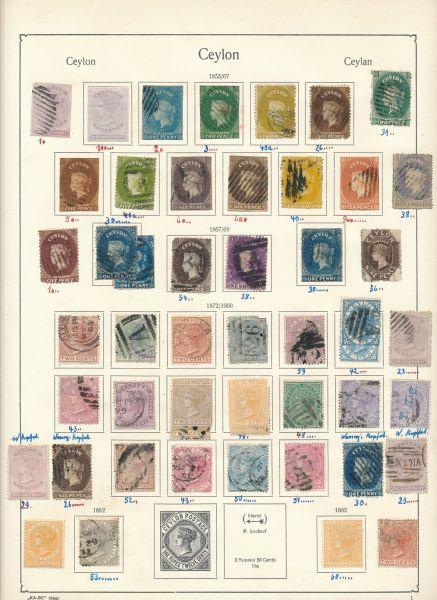 Ceylon Schöne Klassik - Sammlung, meist gestempelt