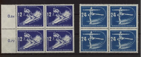 DDR Mi.Nr.246-47 Viererbl.(mit 247I) **