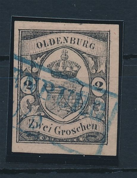 Oldenburg Mi.Nr.7 gestempelt Luxus Fotoattest Brettl