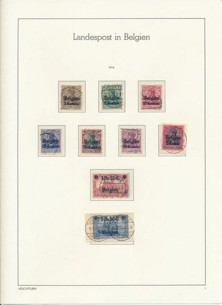 Deutsche Besetz. + Abstimmung 1914-18 mit Marienwerder
