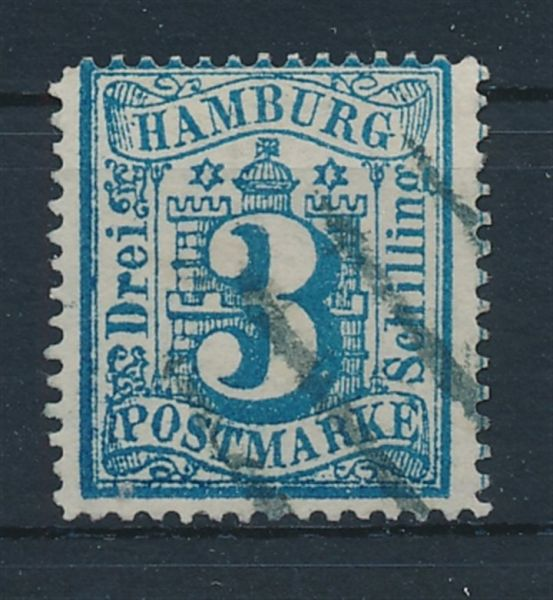 Hamburg Mi.Nr.15 b gestempelt Luxus Fotobefund BPP