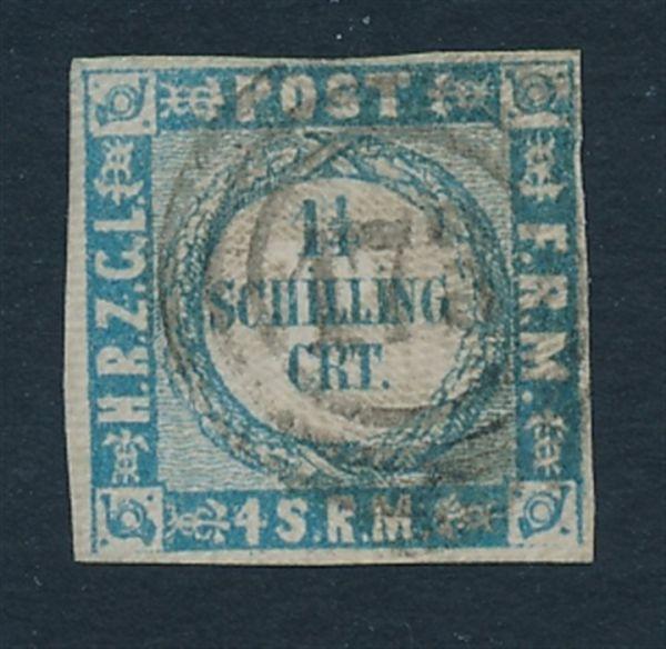 Schleswig Holstein Mi.Nr.5 I NS 173 Trittau Lux FB BPP