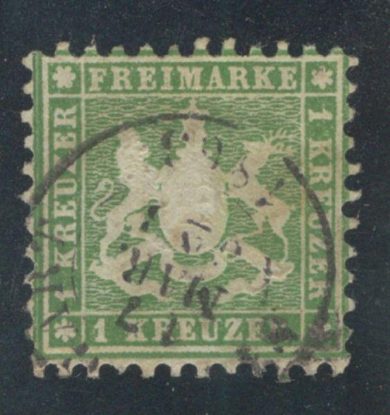 Württemberg Mi.Nr.25 b gestempelt geprüft BPP