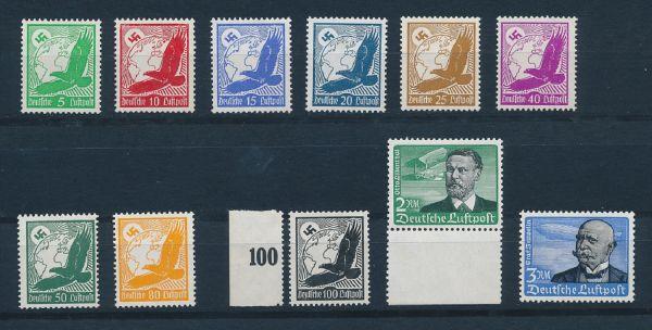 Deutsches Reich Mi.Nr.529-39 ** Luxus Fotoattest BPP