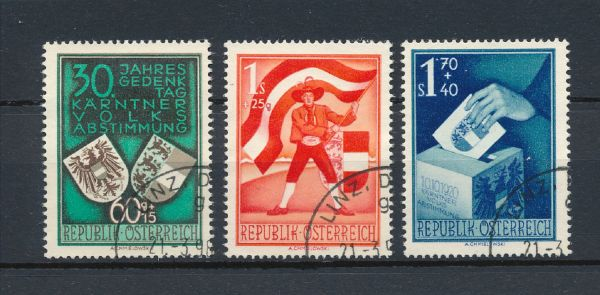 Österreich Mi.Nr.952-54 gestempelt Fotoattest