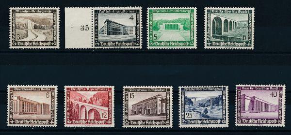 Deutsches Reich Mi.Nr.634-42 ** postfrisch