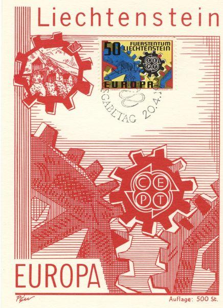 Liechtenstein Mi.Nr.474 Alte Maximumkarten