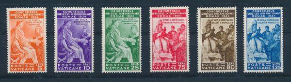 Vatikan Mi.Nr.45-50 ** postfrisch Luxus Fotoattest BPP