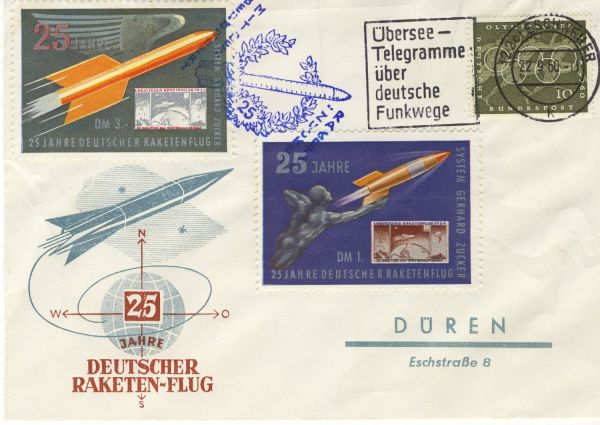 Bundesrepublik Interessanter Luftpostbeleg Raktenpost