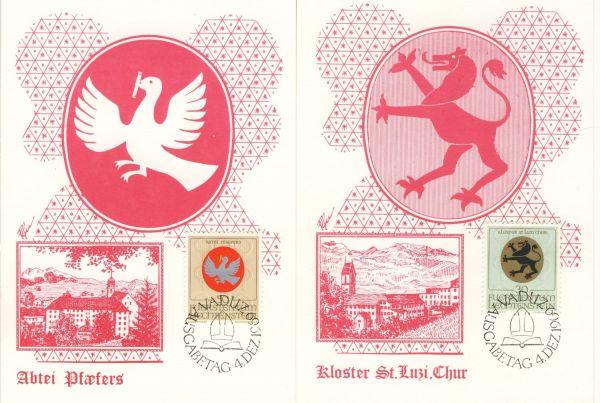 Liechtenstein Mi.Nr.514-16 Alte Maximumkarten