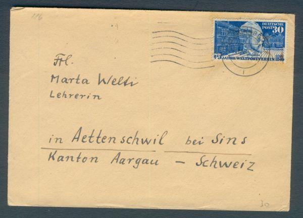 Bundesrepublik Interessanter Altbeleg 116 i.d.Schweiz